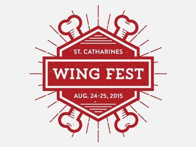 St. Catharines Wing Fest wings chicken wings festival branding food logo identity