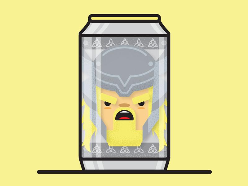 Thor, Odin Ale-Front character vector design illustration beer thor marvel
