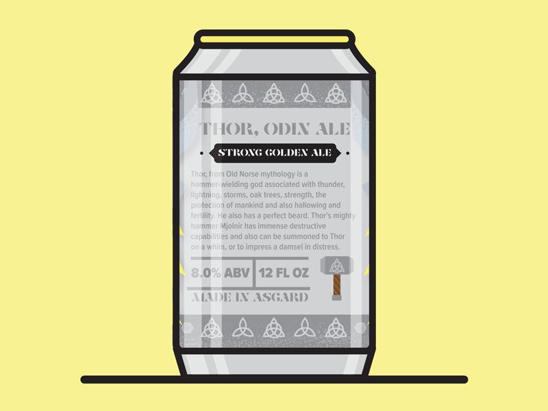 Thor, Odin Ale-Back design illustrator vector avengers thor marvel illustration character beer