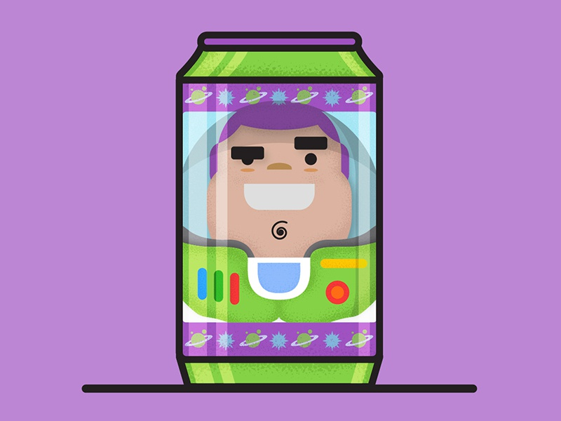 Buzz Light Beer-Front series character design pixar vector motion design illustration character design beer can beer toysjory toy