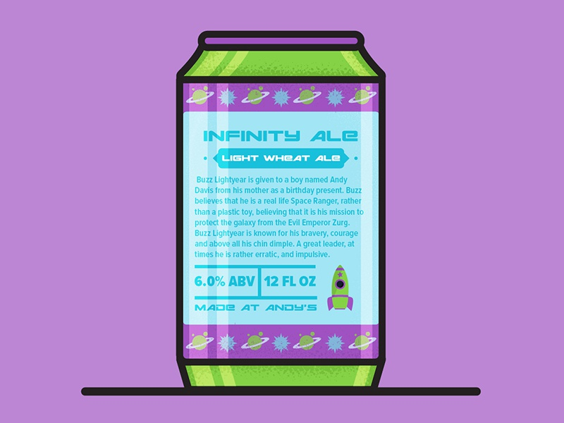 Buzz Light Beer-Back motion graphics beer buzz lightyear design illustration character design toystory toy