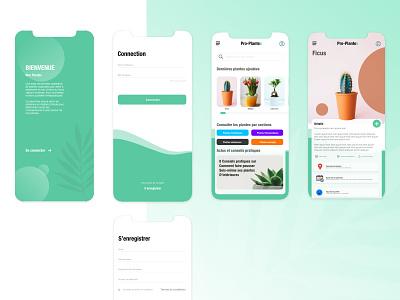 UI Mobile App - Plant App icon flat logo design flutter uiux ux ui app mobileapp plant