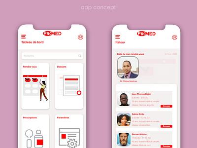 UIconcept Medical App flutter app mobileapp ui design adobe xd uidesign ui  ux medical design medical app medical