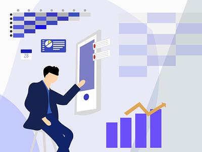 Tech Man illustration design app