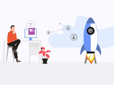 The future of tech vector design tech illustration