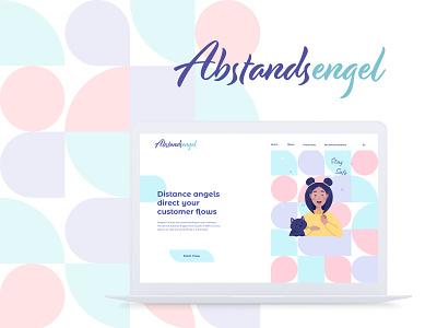 Abstandsengel UI Design ui design logo pandemic webdesign ui animation adobe illustrator