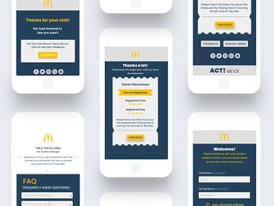 ACT! > UI Design minimalist minimal mcdonald restaurant covid pandemic corona virus uidesign web design ui