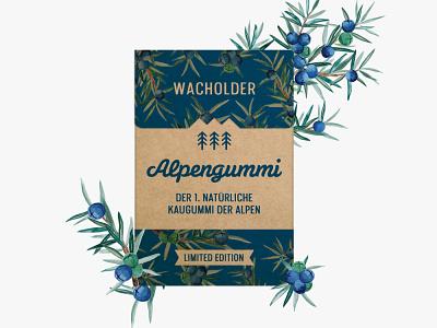 Alpengummi > Illustration and package design branding watercolor illustration austria vienna alpengummi graphicdesign package design pachage illustration watercolor