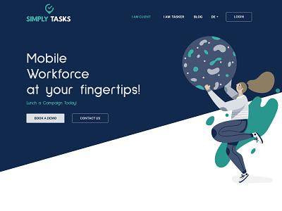Simply Tasks > UI Design web design web ui design ui  ux austria branding ui adobe illustrator