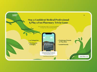 Landing Page green landign page clean ui websites webdesign branding illustrator website flat minimal web ui clean design illustration uiux uidesign website design