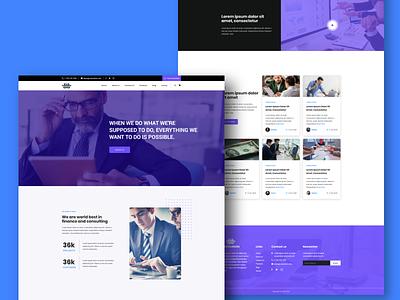 Consulting Blog Website service finance homepage website design uidesign design landign page ui clean ui clean design website blog consulting