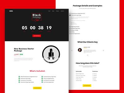 Black Friday Page Design agency website web clean minimalist uidesign clean design clean ui ui website design landign page offer website agency blackfriday