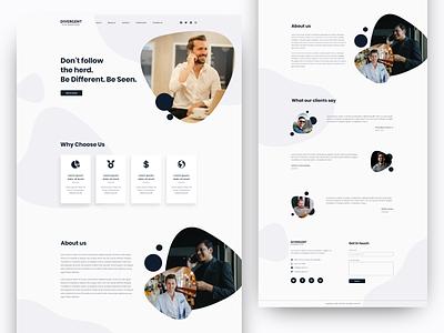 Landing Page UI Design company portfolio corporate branding clean design uidesign design webdesign web clean ui website design website ui landign page