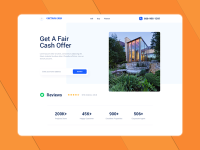 Real Estate Landing Page modern home page web graphic design clean ui clean design design uidesign ui website design website real estate landign page
