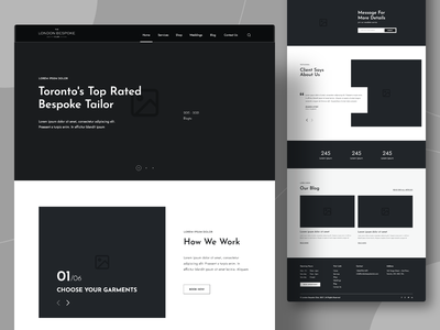 Landing Page | High-Fidelity Wireframe design clean ui tailoring high fidelity wireframes wireframes design system illustration clean design ui uidesign website design website landign page