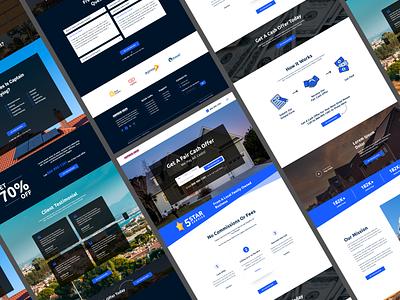 Landing Page | Real Estate real-estate simple landign page website design website minimal design ux branding tranding popular ui web
