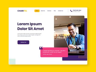 Landing Page Design design uidesign clean ui clean design website design website ui landign page