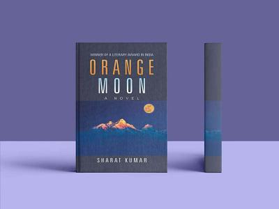Orange Moon Novel Cover Mockup illustration modern vector branding animation logo motion graphics graphic design 3d design classic latest creative very mockup color novel moon orange free