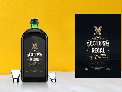 Modern Whisky Bottle Mockup creative latest download mockup illustration ui branding logo motion graphics graphic design 3d animation vector new amazing black design mockup bottle whisky modern