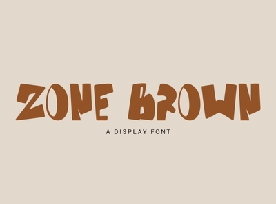 Zone Brown Font product magazine poster otf playful bold cartoon taekwondo karate kungfu handdrawn envato display handwritten sport text logo design font design font