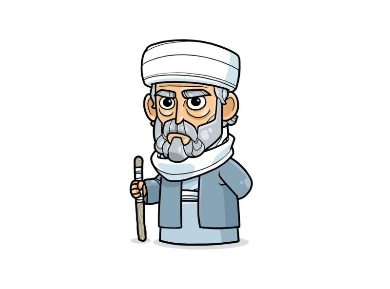 Rashidun Caliphate Vol 1 religion leader successor rashidun caliphate arab muslim islam vector character cartoon envatoelements envato doodle artwork illustration character design graphic design