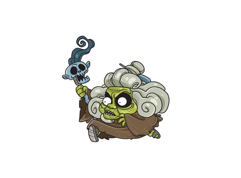 Old geezer magician vector dark evil witch grandmother woman geezer old character cartoon envatoelements envato doodle artwork illustration character design graphic design