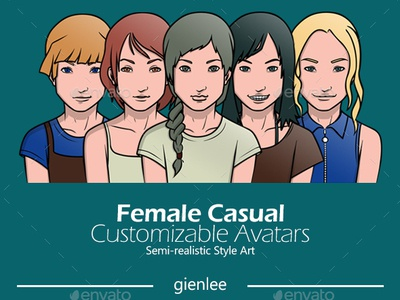 Female Casual Customizable Avatars
