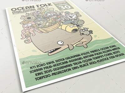 Ocean Folk Poster