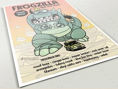 Frogzilla Poster
