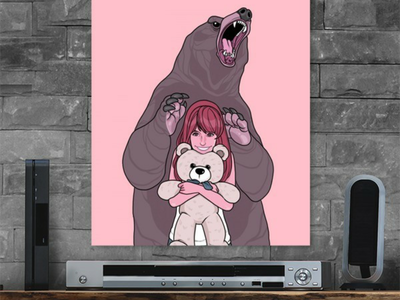 Madly Jealous wallpaper drawing bear animal poster illustration graphic design character design