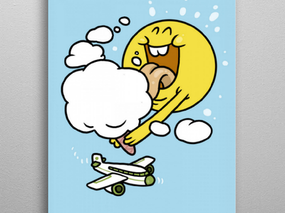 Ice Cream sky plane icecream cloud sun artwork drawing doodle flyer poster illustration graphic design character design