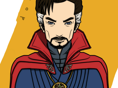 Marvel - Doctor Strange artwork comic magician marvel superhero