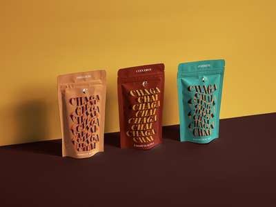Chaga Chai Branding and Packaging brand guidelines design packaging branding health brand bottle label design label design tea packaging tea brand expressive typography visual identity branding and identity packaging design logo logo design typography graphic design branding design