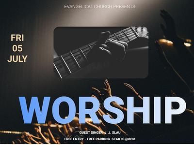 Church flyer discount volunteer support nonprofit freelancer flyers design flyers guitar worship church branding church logo church design
