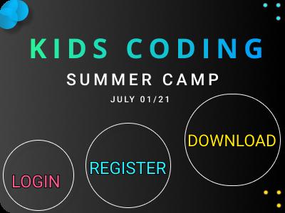 Let kids code! mobile application summercamp coding kids ux branding ui colorful figma figmadesign design