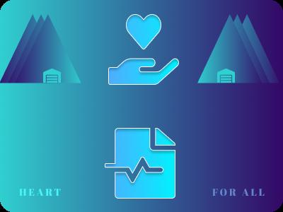 Heart for all UI Design graphic design product design logo flyer banner fundraising heart ui ux illustration branding colorful figmadesign figma design