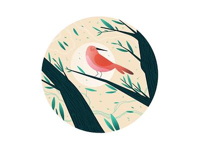 Little Bird animal nature leaves digital illustration illustration illustrazione digital art drawing bird home