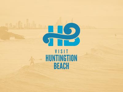 Visit Huntington Beach surf waves huntington beach logo