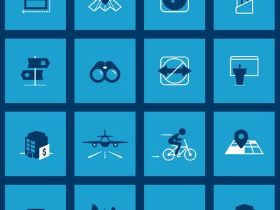 Aquila Icon Set pin bike plane office presentation signs binocular sign icons real estate