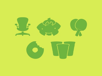 JOlympics Icon Set beer pong donut paddleball sumo chair icon