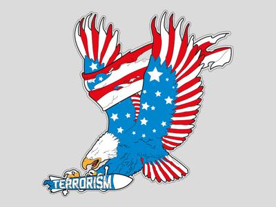 Go Vote! flag banner america eagle