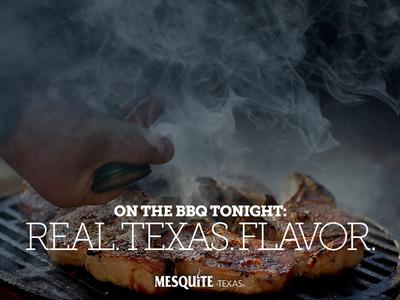 Real. Texas. Flavor smoke branding barbecue bbq texas mesquite