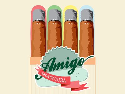 Amigo Skate Cuba cuban cigar skateboard