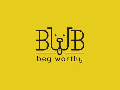 Beg Worthy Bandana yellow logo dog