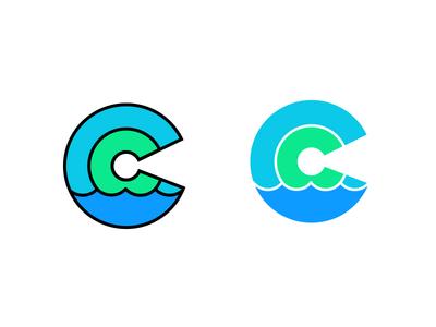 Just C what happens... climate climate change c icon logo