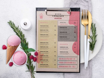 Smoothie Menu Design Template design free good best new get mockup psd mockup download psd download psd
