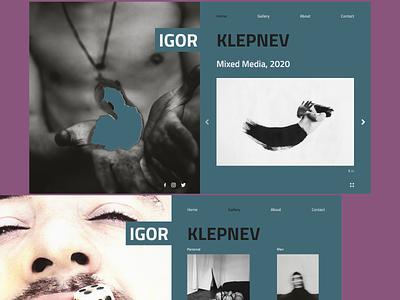 Igor Klepnev web design fashion xd web ux ui design portfolio photography