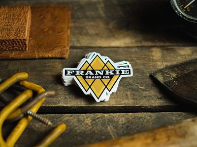 Frankie Brand Co. Gold + Diamonds accessories merch swag branding logo diamonds retro vintage gold stickermule sticker