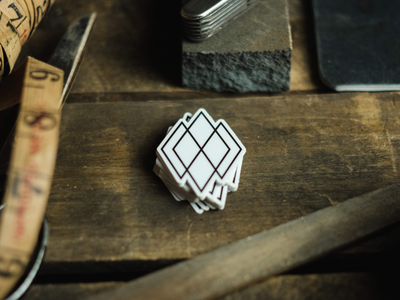 Frankie Brand Co. Simple Diamonds Sticker accessories merch swag branding logo diamonds retro vintage stickermule sticker