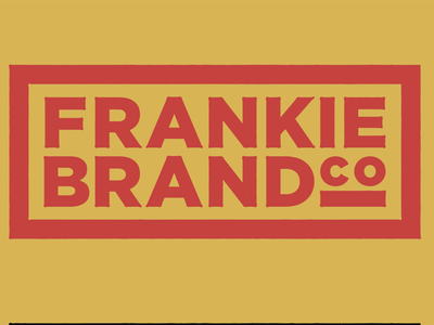 Frankie Alternative Mark typography simple branding logo mark vintage mark cincinnati logo